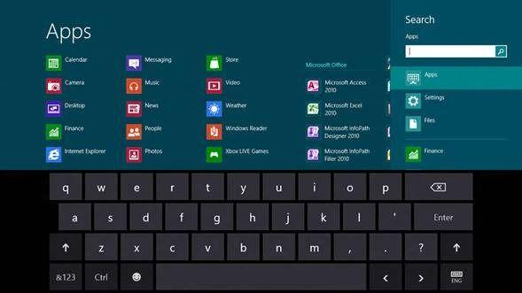 teclado en pantalla windows 8
